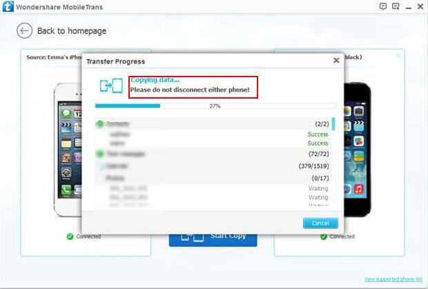 Transfer data de iPhone et iPad New