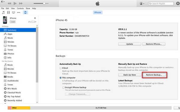 , iphone, redde-tactus-via iTunes