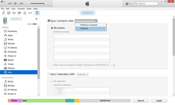 sync contacts to outlook